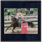 Janice Barrel Racing